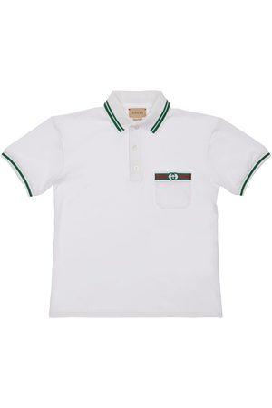 GUCCI | Niño Camiseta Polo De Algodón Piqué Stretch 8a
