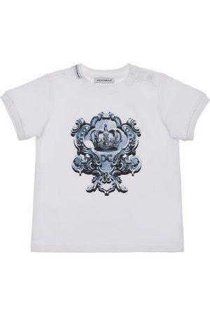 DOLCE & GABBANA | Niña Camiseta De Jersey De Algodón Con Logo Estampado 12-18m