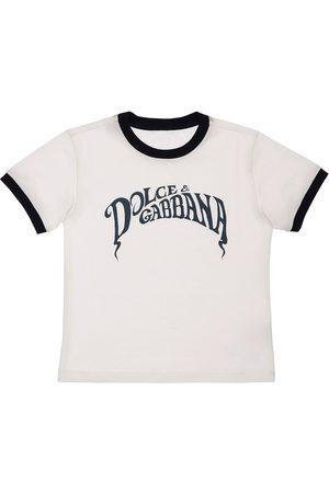 Dolce & Gabbana   Niño Camiseta De Jersey De Algodón Con Logo 4a