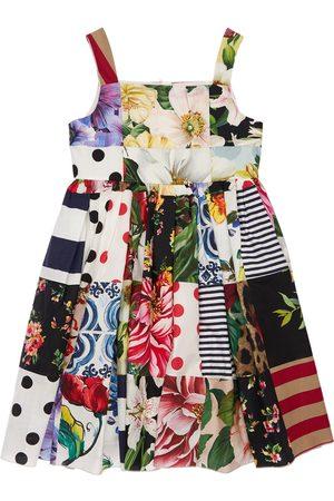 Dolce & Gabbana   Niña Vestido De Fiesta De Algodón Patchwork 8a