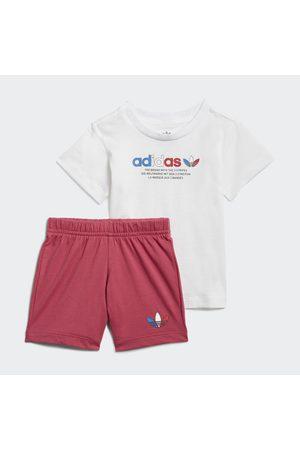 adidas Conjunto pantalón corto y camiseta Adicolor