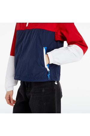 Tommy Hilfiger Colorblock Popover Windbreaker Jacket Deep Crimson/ Multi