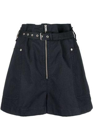Isabel Marant Étoile Mujer Pantalones cortos - Shorts de talle alto con cinturón