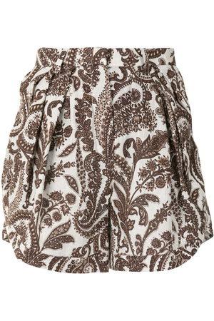 Rosie Assoulin Shorts con estampado de cachemira