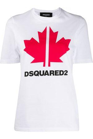 Dsquared2 Camiseta con estampado de hoja de arce