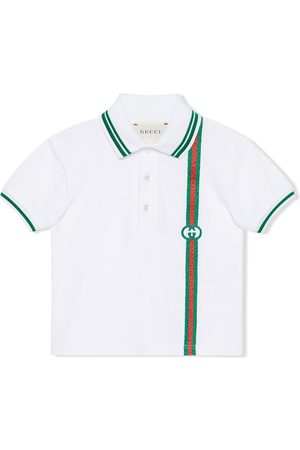 Gucci Kids Polos - Polo con motivo Interlocking G