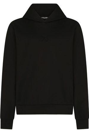 Dolce & Gabbana Hombre Jerséis y sudaderas - Sudadera con capucha y parche del logo
