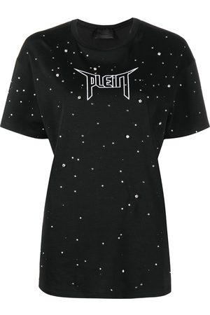 Philipp Plein Camiseta con detalles de cristales