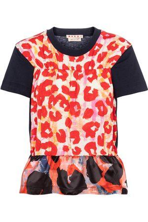 Marni Camiseta estampada con péplum