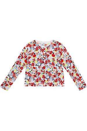Bonpoint Cárdigan de algodón floral