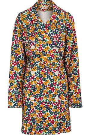Marni Abrigo de jeans floral
