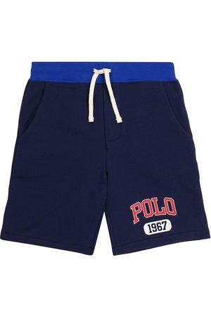Polo Ralph Lauren Kids Shorts de algodón con cordón y logo