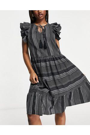 Accessorize Mujer Casual - Vestido playero con hombros llamativos de
