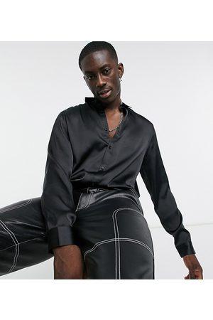 ASOS DESIGN Hombre Camisas - Camisa de corte estándar de satén en de
