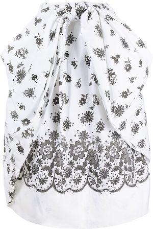 Simone Rocha Mujer Largas - Falda midi fruncida con motivo floral