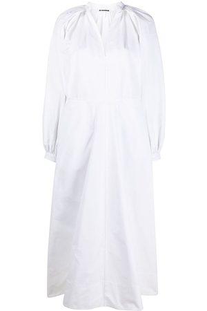 Jil Sander Mujer Casual - Vestido tipo túnica con pliegues