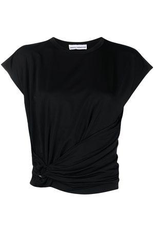Paco rabanne Mujer Crop tops - Camiseta con diseño cruzado