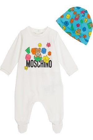Moschino Bebé - set de body y gorro