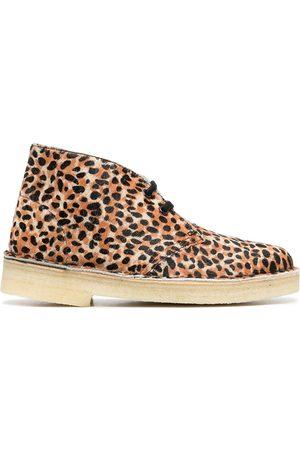 Clarks Botas desierto con estampado de leopardo