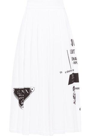 Prada Falda con estampado de eslogan