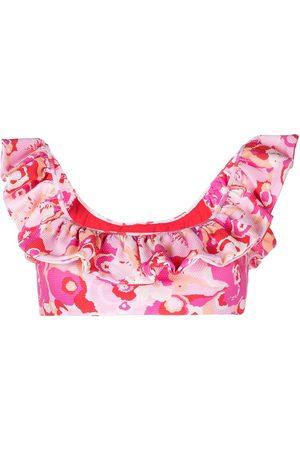 La DoubleJ Top de bikini con motivo floral