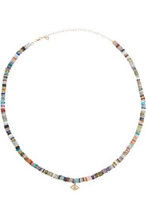 Sydney Evan Collar Evil Eye de oro de 14 ct con abalorios