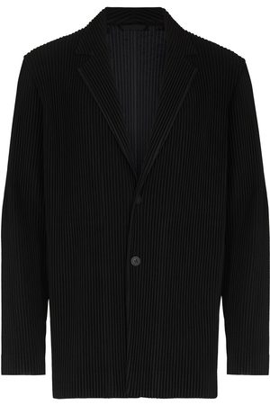 HOMME PLISSÉ ISSEY MIYAKE Hombre Blazers - Pleated single-breasted blazer
