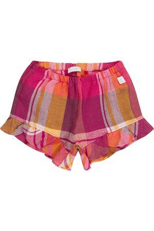 Il gufo Bebé - shorts de lino de cuadros