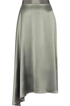 Deveaux New York Mujer Midi - Falda lencera midi Merel asimétrica