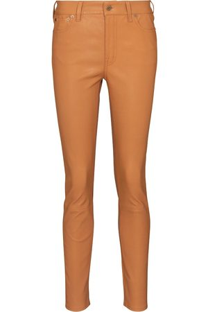 Polo Ralph Lauren Pantalones ajustados de piel