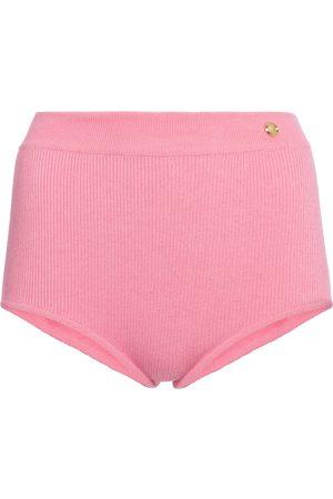 Balmain Mujer Pantalones cortos - Shorts de punto de tiro alto