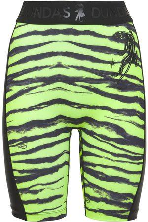 adidas | Mujer Shorts Biker De Lycra Estampados Con Logo Lateral Xs