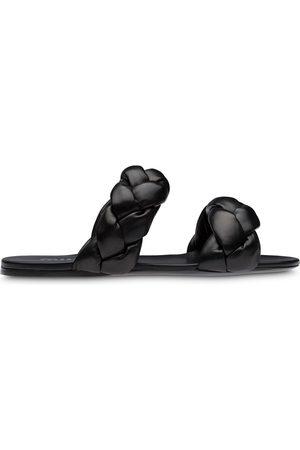 adidas Mujer Sandalias - Sandalias planas con diseño tejido