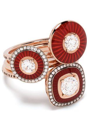 adidas Set de anillos Mina en oro de 18kt con diamantes