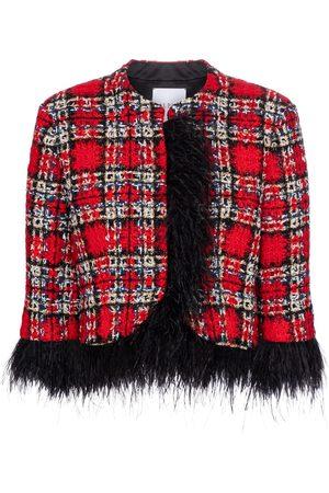 adidas Mujer De Invierno - Chaqueta de tweed con plumas