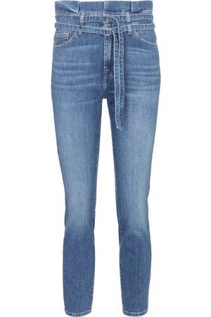 adidas Jeans skinny paperbag de tiro alto
