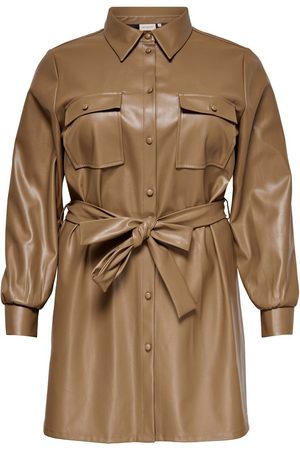 Only Mujer Casual - CURVY FAUX LEATHER SHIRT