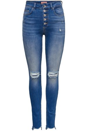 Only ONLFBLUSH HW ANKLE BUTTON JEANS SKINNY FIT