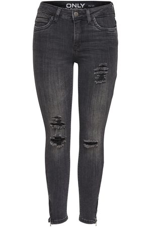 Only KENDELL ANKLE ZIP GREY JEANS SKINNY FIT