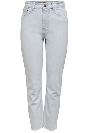 Only Mujer Cintura alta - ONLEMILY LIFE HW CROPPED JEANS STRAIGHT FIT