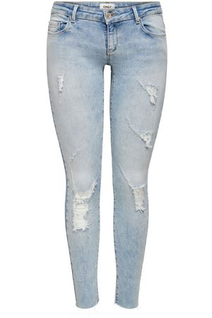Only ONLCORAL SL ANK RAW JEANS SKINNY FIT