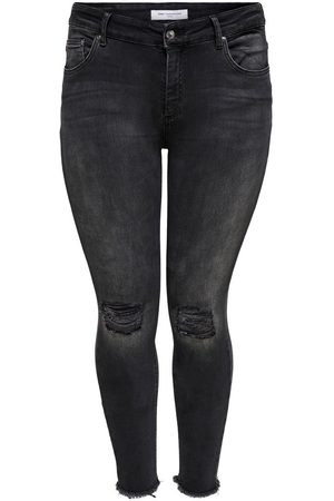 Only CARWILLY REG ANKLE DESTROYED JEANS CROPPED
