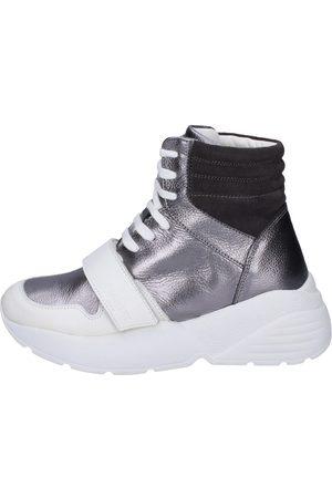 Twin-Set Zapatillas altas Sneakers Cuero para mujer