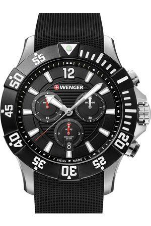 Wenger Reloj analógico 01.0643.118, Quartz, 43mm, 20ATM para hombre