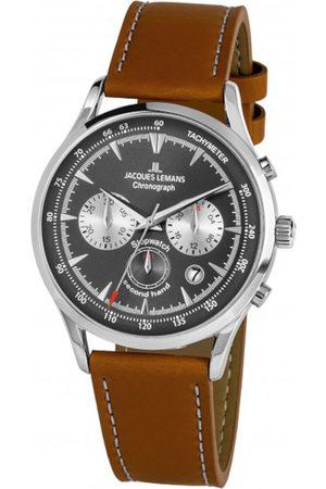 Jacques Lemans Reloj analógico 1-2068B, Quartz, 41mm, 5ATM para hombre