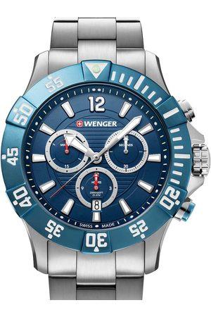 Wenger Reloj analógico 01.0643.119, Quartz, 43mm, 20ATM para hombre