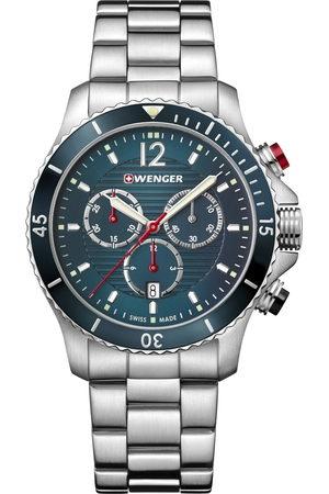 Wenger Reloj analógico 01.0643.115, Quartz, 43mm, 20ATM para hombre