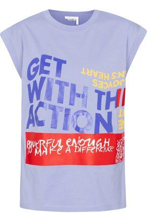 Chloé Camiseta de algodón estampada