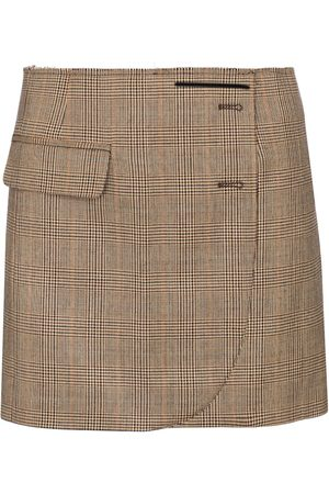 Vetements Minifalda de lana de cuadros