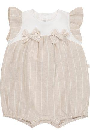 Il gufo Bebé: pelele de algodón a rayas